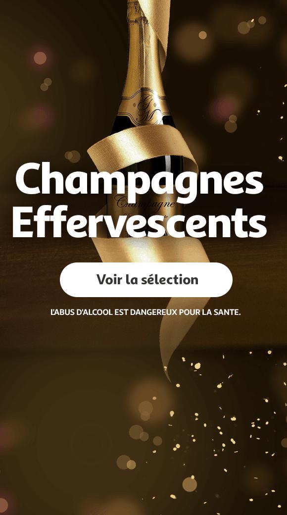 Allez vers la catégorie Champagnes et effervescents